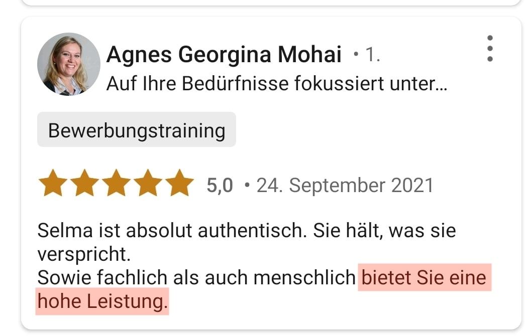 5 Sterne von Agnes