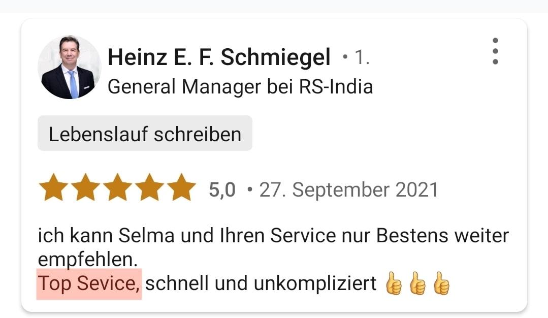 5 Sterne von Heinz