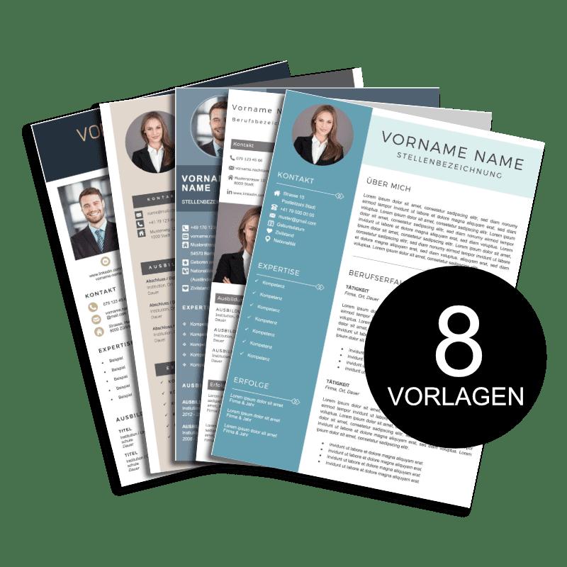 8 Lebenslauf Vorlagen Paket