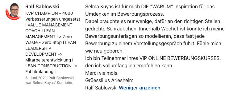 Empfehlung Ralf