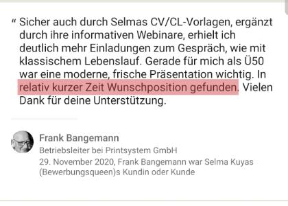 Webinar Feedback Frank