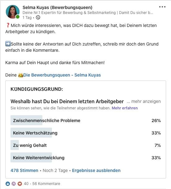 Kündigungsgrund-Umfrage