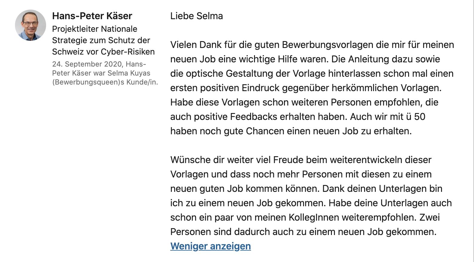 Testimonial Hans-Peter