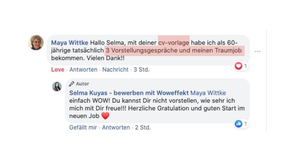 Traumjob dank Vorlage Selma Kuyas