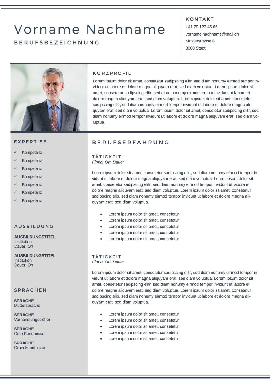 Bewerbung Vorlage Executive